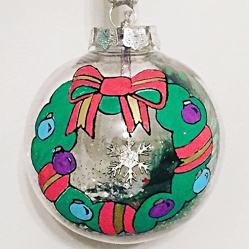 traditional Christmas wreath bauble decoration