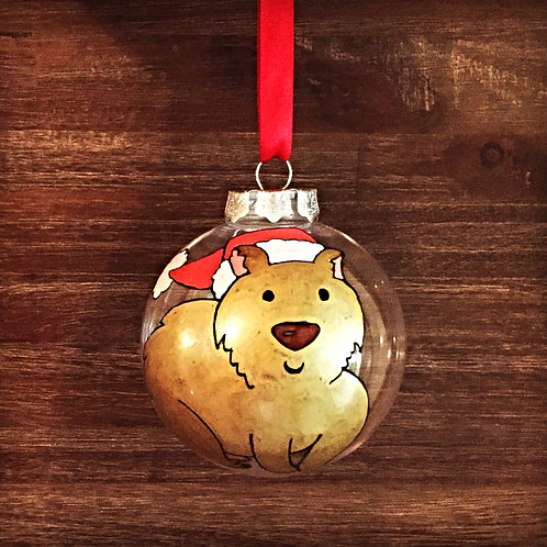 wombat Australian animal Christmas bauble decoration