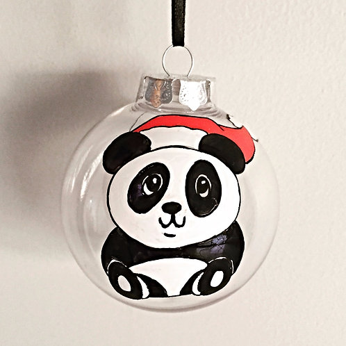 cute panda Christmas bauble decoration