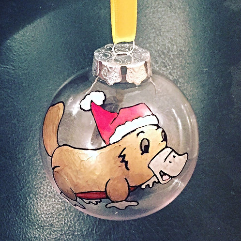 platypus Australian animal Christmas bauble decoration