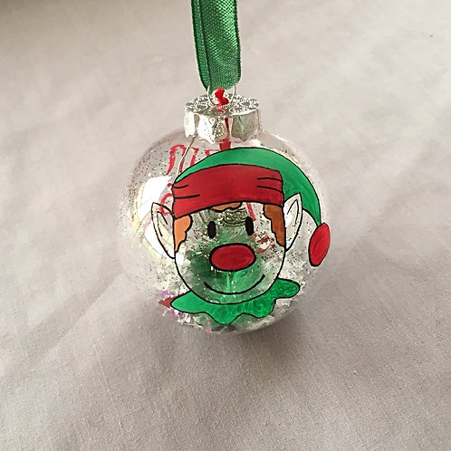 elf Christmas bauble decoration