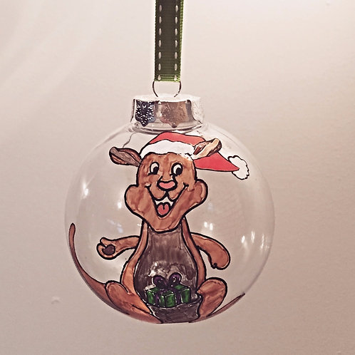 kangaroo Australian animal Christmas bauble decoration