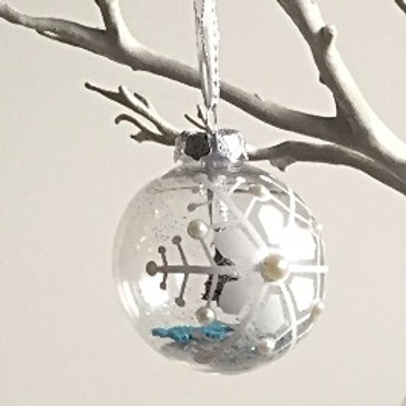 snowflake Christmas bauble