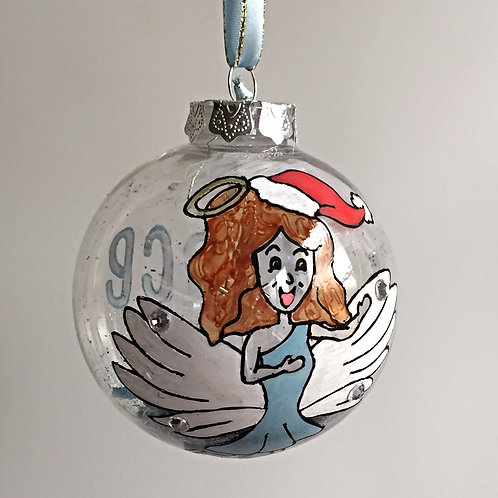 blue angel Christmas bauble decoration