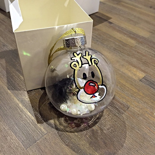 Rudolph reindeer Christmas bauble decoration