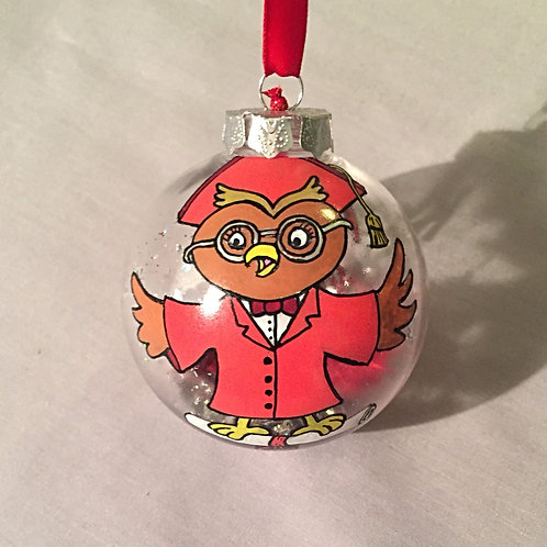 Graduation Owl #1 with Scroll
