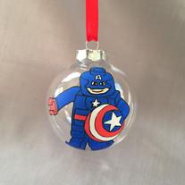 Lego Captain America Bauble
