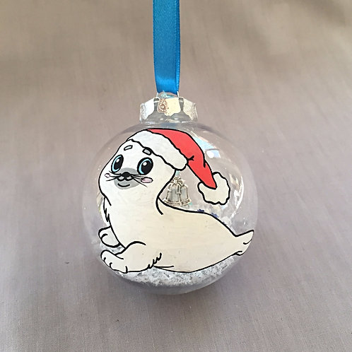 Seal with Santa Hat