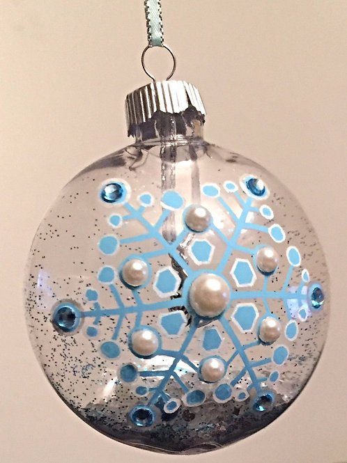 blue snowflake Christmas bauble