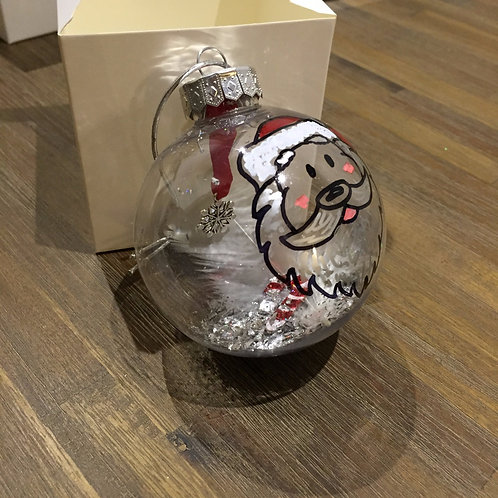 Santa face Christmas bauble