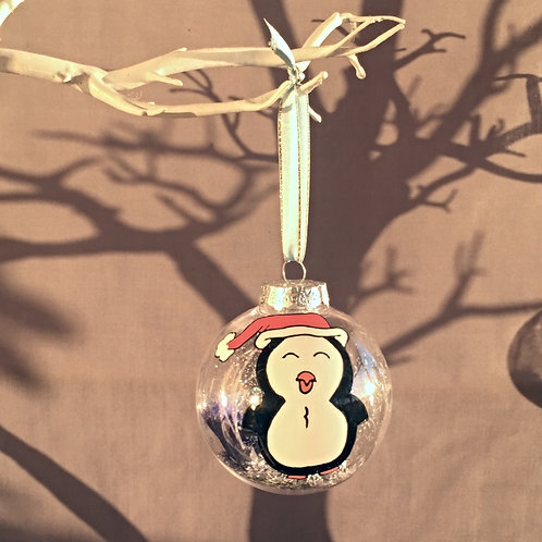 penguin Christmas bauble decoration