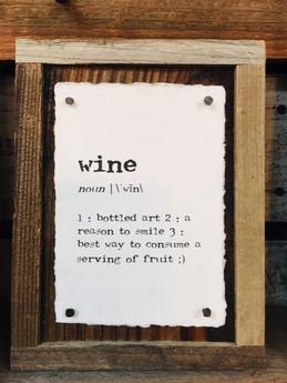 Paper Print on Wood Wine