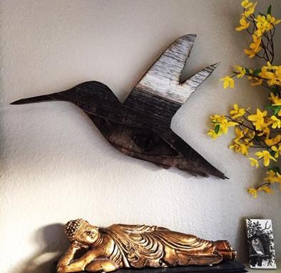 Reclaimed Wood Hummingbird
