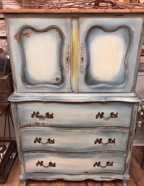 Cabinet Hand Painted
