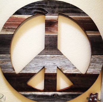 Reclaimed Wood Peace