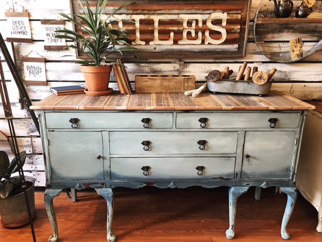 Buffet with Reclaimed Wood Top