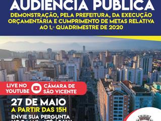 Convite: Audiência pública sobre execução orçamentária