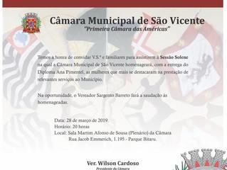Sessão Solene: Diploma Ana Pimentel