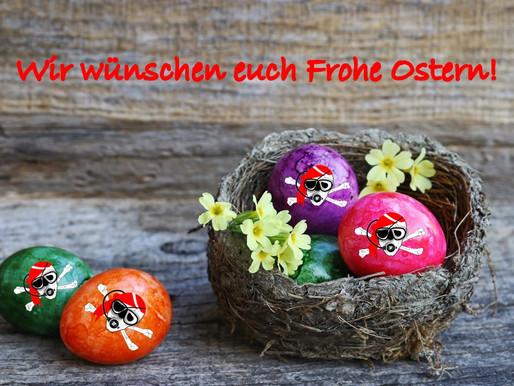Wir die Dive-Pirates, wünschen allen Schülern und Freunden ein Frohes sowie gesundes Osterfest.