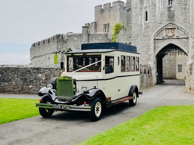 Vintage Wedding Bus Hire Cardiff South Wales