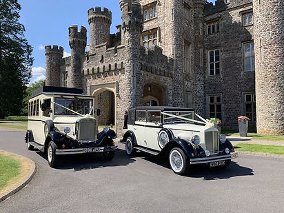 Vintage 8 Seater Wedding Car hire Newport