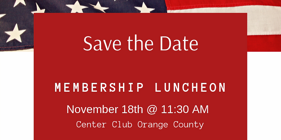 Fall Membership Luncheon