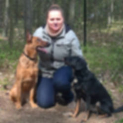 Natalia Dobrowolska z psami