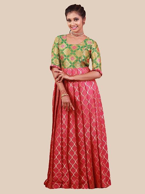 Shivangi Tafetta Spiral Long Gown