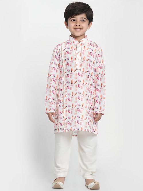 Floral Printed Boys / Kids / Children Kurta Pyjama Indian Ethnic wear
