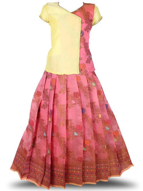 Shivangi Jal Motiff Pavadai Set/Lehenga