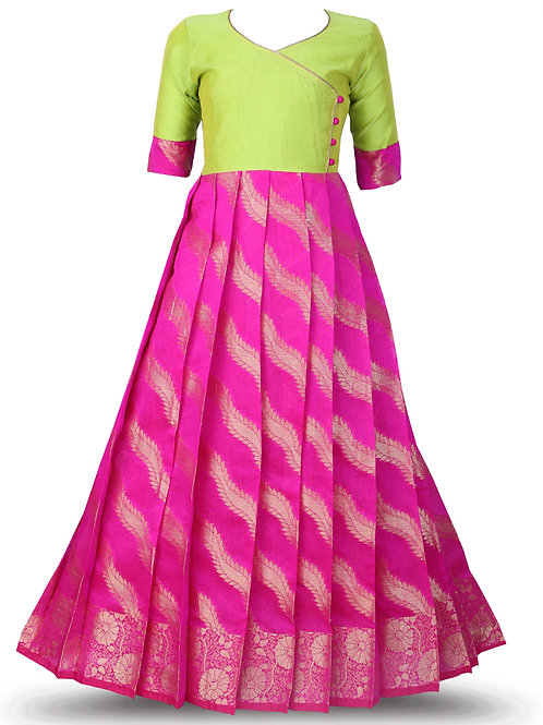 Shivangi Floral stripes Long Gown