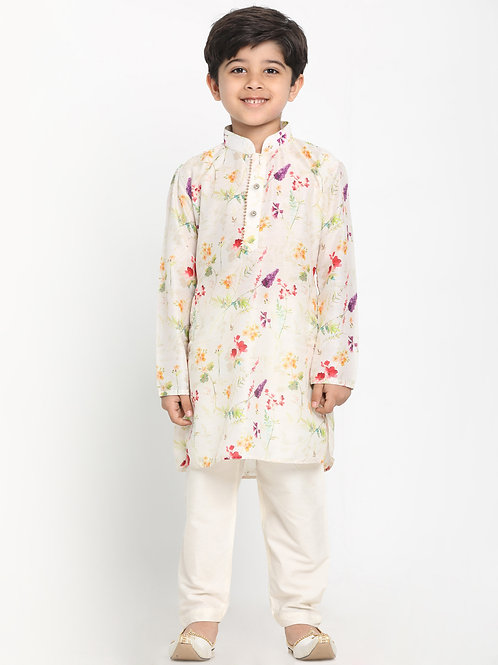 Floral Printed Boys / Kids / Children Kurta Pyjama Indian Ethnic wear