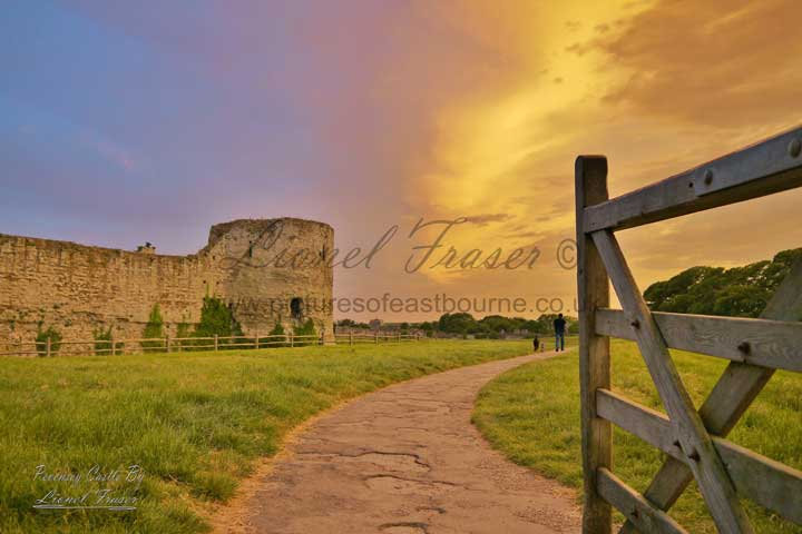 230D Pevensey Castle Sunset