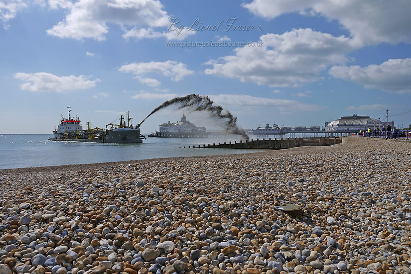 151G Dredger on Eastbourne Beach