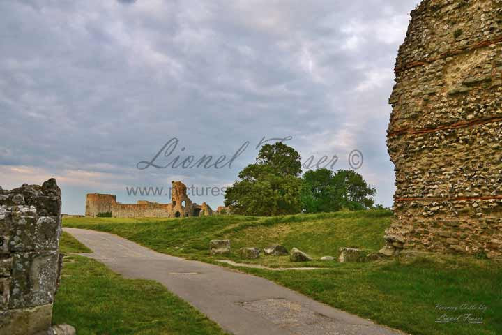 230H Pevensey Castle at Sunset