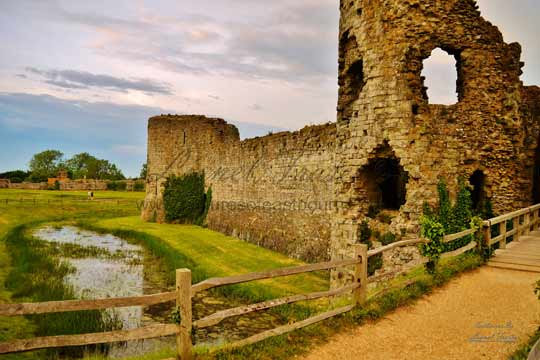 230B Pevensey Castle at Sunset
