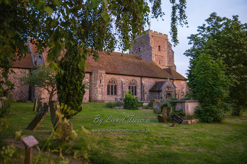 229A3 St Marys Church Westham at Sunset