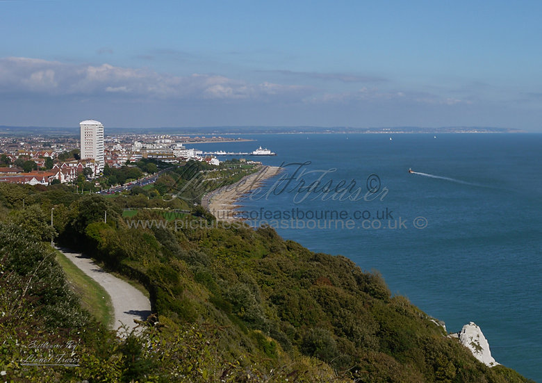 160A2 View over Eastbourne From Holywell