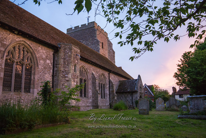229A2 St Marys Church Westham at Sunset