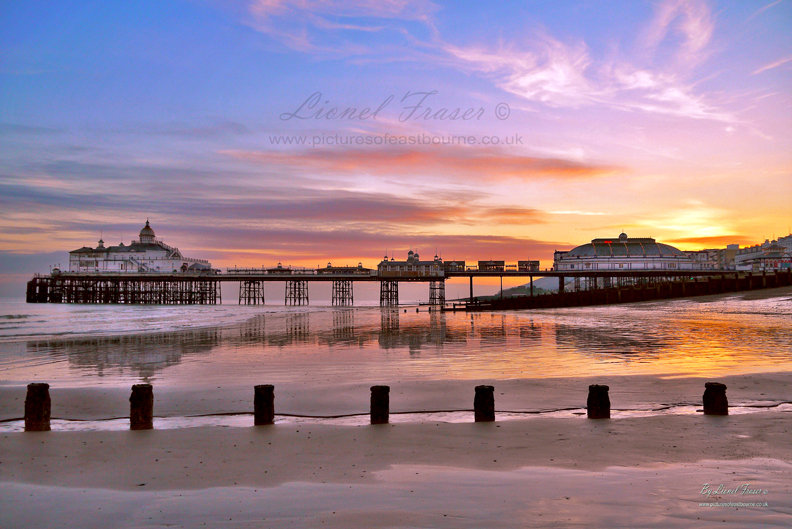 108A6 Eastbourne Pier Sunset