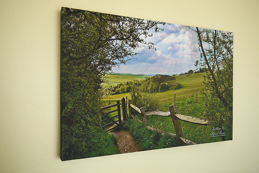 S123A1 Friston Hill to Belle Tout Lighthouse 20x30 on Canvas