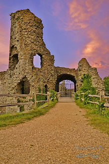 Pevensey Castle Sunset
