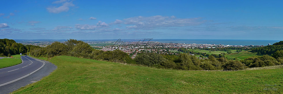 160C1 Panoramic view over Eastbourne