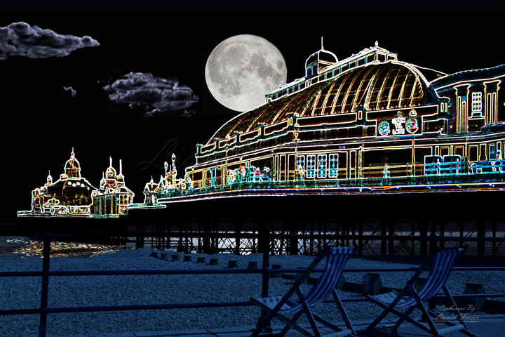 420 Eastbourne Pier at Night (Artist Impression)