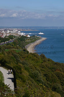 View over Eastbourne along seafront