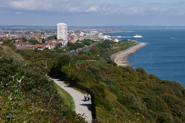 160A1 View over Eastbourne From Holywell