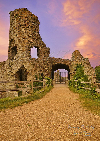 230A Pevensey Castle at Sunset
