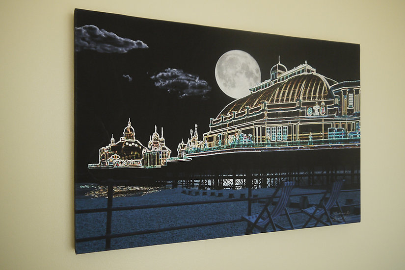 S420 Eastbourne Pier at Night 20x30 Canvas