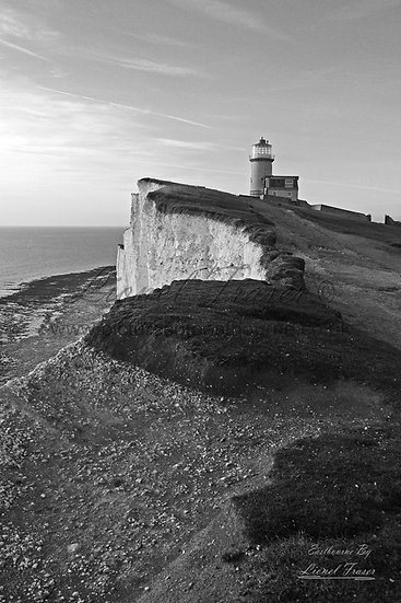 102B4BW Belle Tout Lighthouse in Black & White