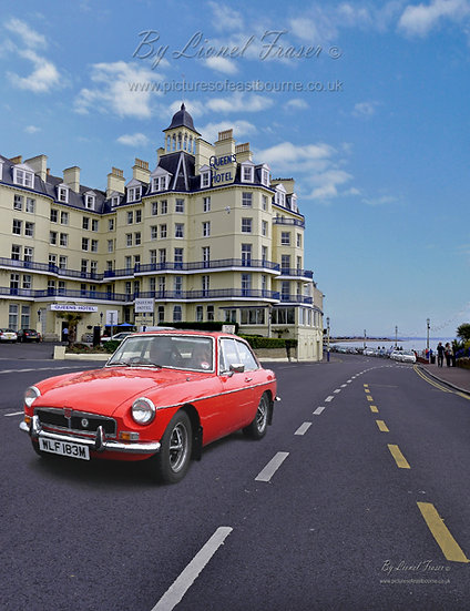 440A3 1970's MG Roadster in Red